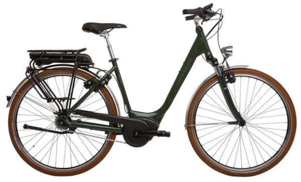 Hercules Urbanico R8 400Wh női városi pedelec kerékpár - sötétzöld - 54 (2018)