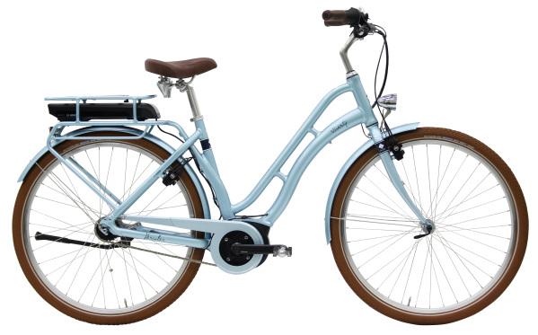 Hercules Viverty E F7 ZR 400Wh női pedelec városi kerékpár - világoskék - 45 cm (2019)