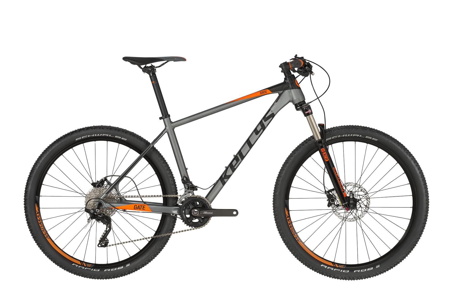 """KELLYS Gate 30 férfi 27.5"""" MTB kerékpár - szürke/narancs - S (2019)"""