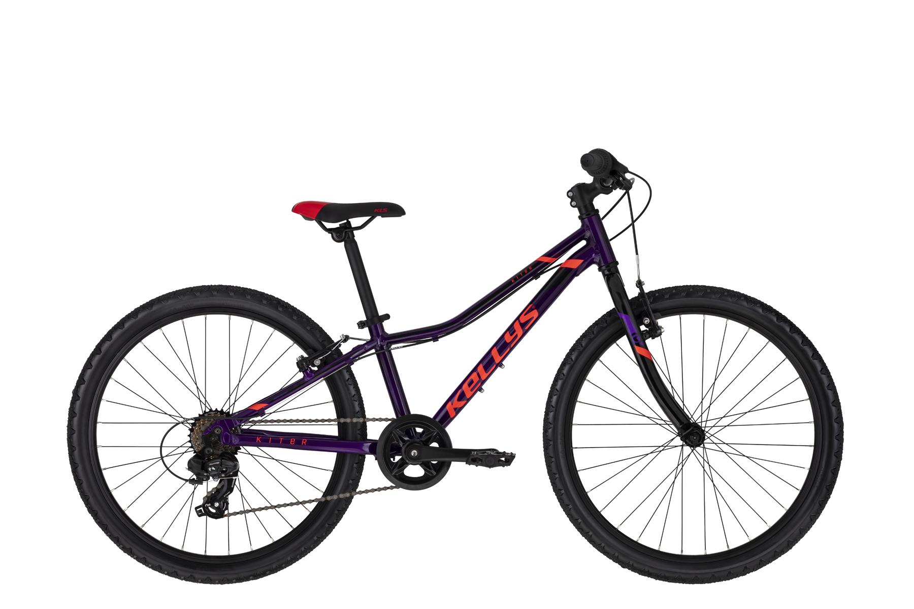 """KELLYS Kiter 30 gyermek 24"""" kerékpár - lila - 11 (2020)"""