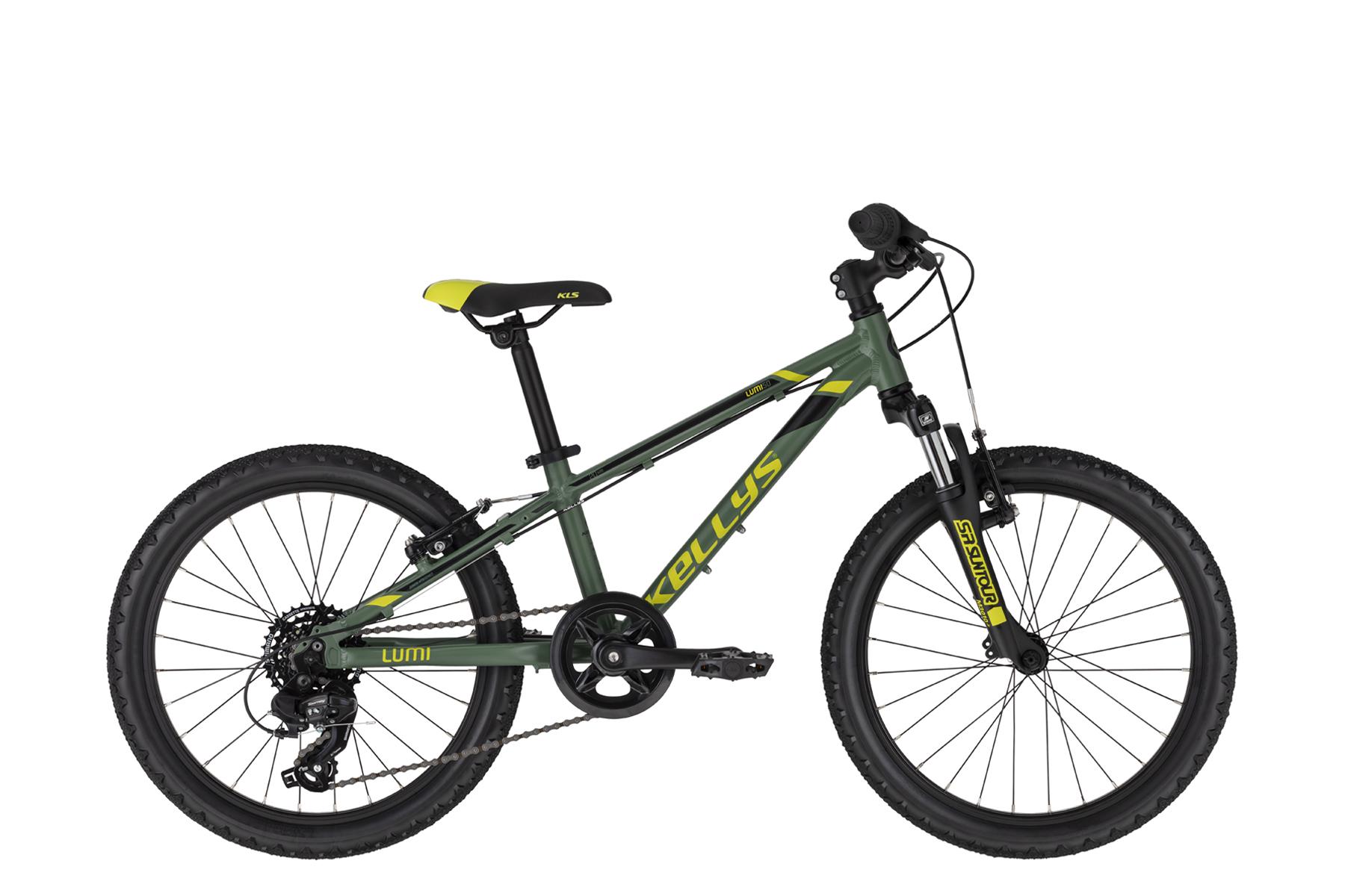 """KELLYS Lumi 50 gyermek 20"""" kerékpár - zöld (2020)"""