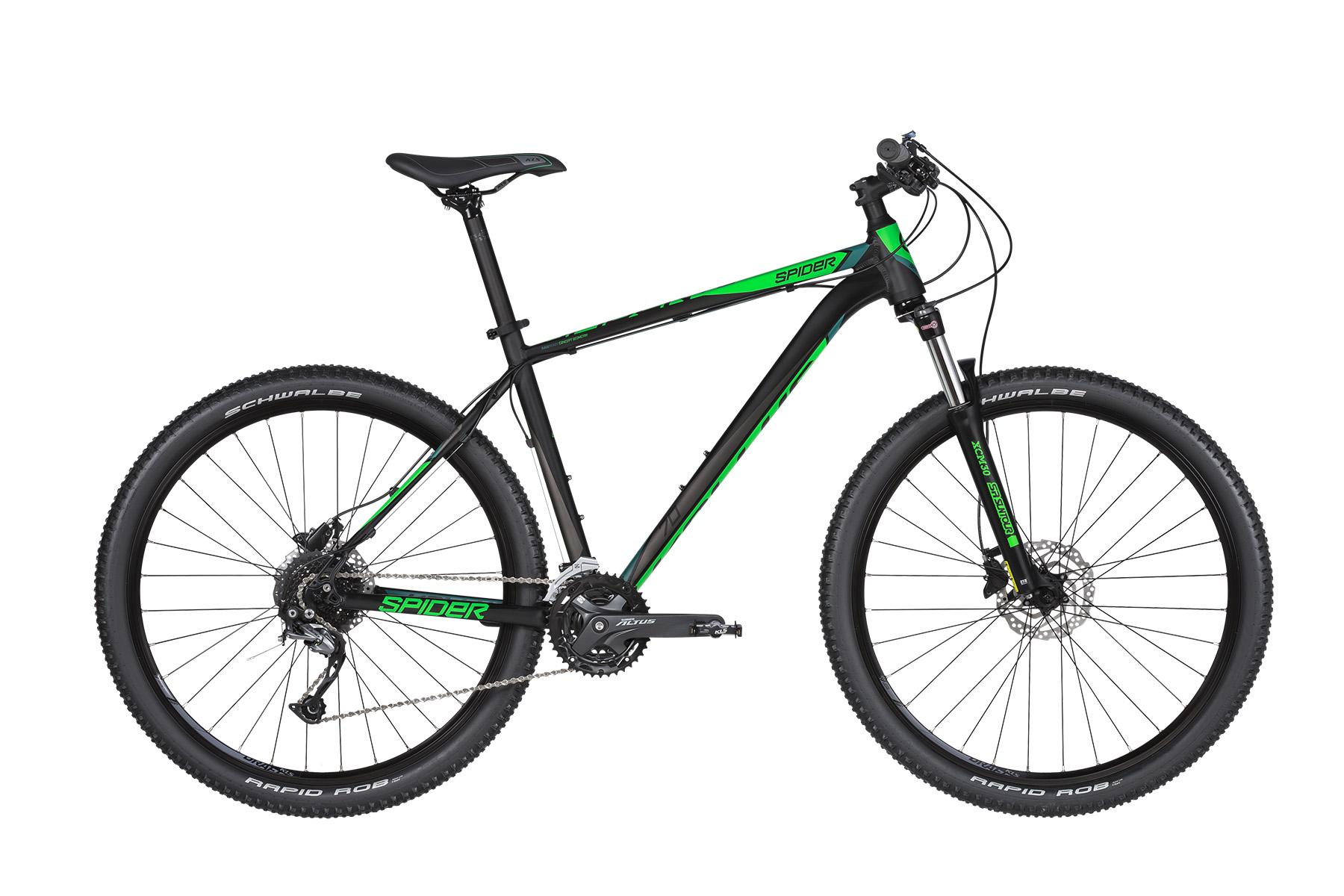 """KELLYS Spider 70 férfi 27.5"""" MTB kerékpár - fekete/zöld - M (2019)"""