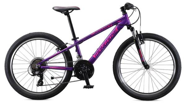 """Mongoose Rockadile gyermek 24"""" kerékpár - lila (2019)"""