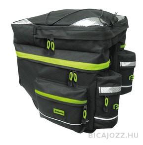 Bikefun Hiker túratáska - fekete/zöld - 55l