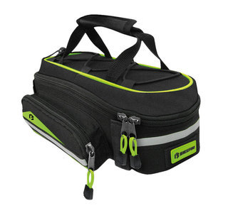 BikeFun Pannier túratáska - fekete/zöld