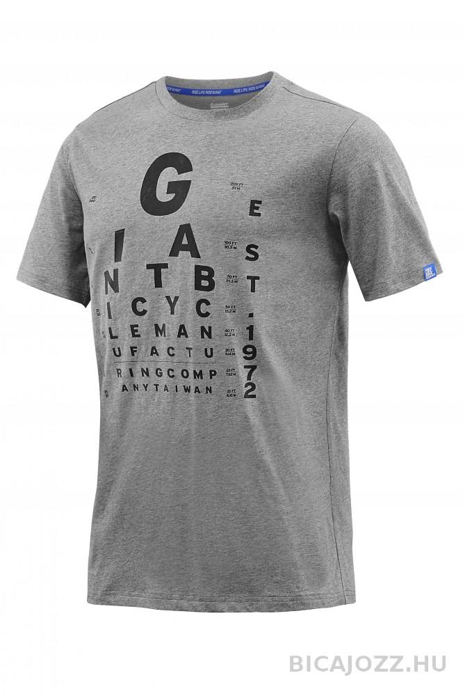 Giant Eye Chart férfi póló - szürke - XXL