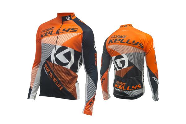 Kellys Pro Race férfi hosszú ujjú mez - narancs - S