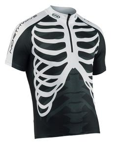 NorthWave Skeleton férfi rövid ujjú mez - fekete/fehér - S