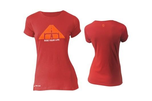 Kellys Biker női póló - piros - XS