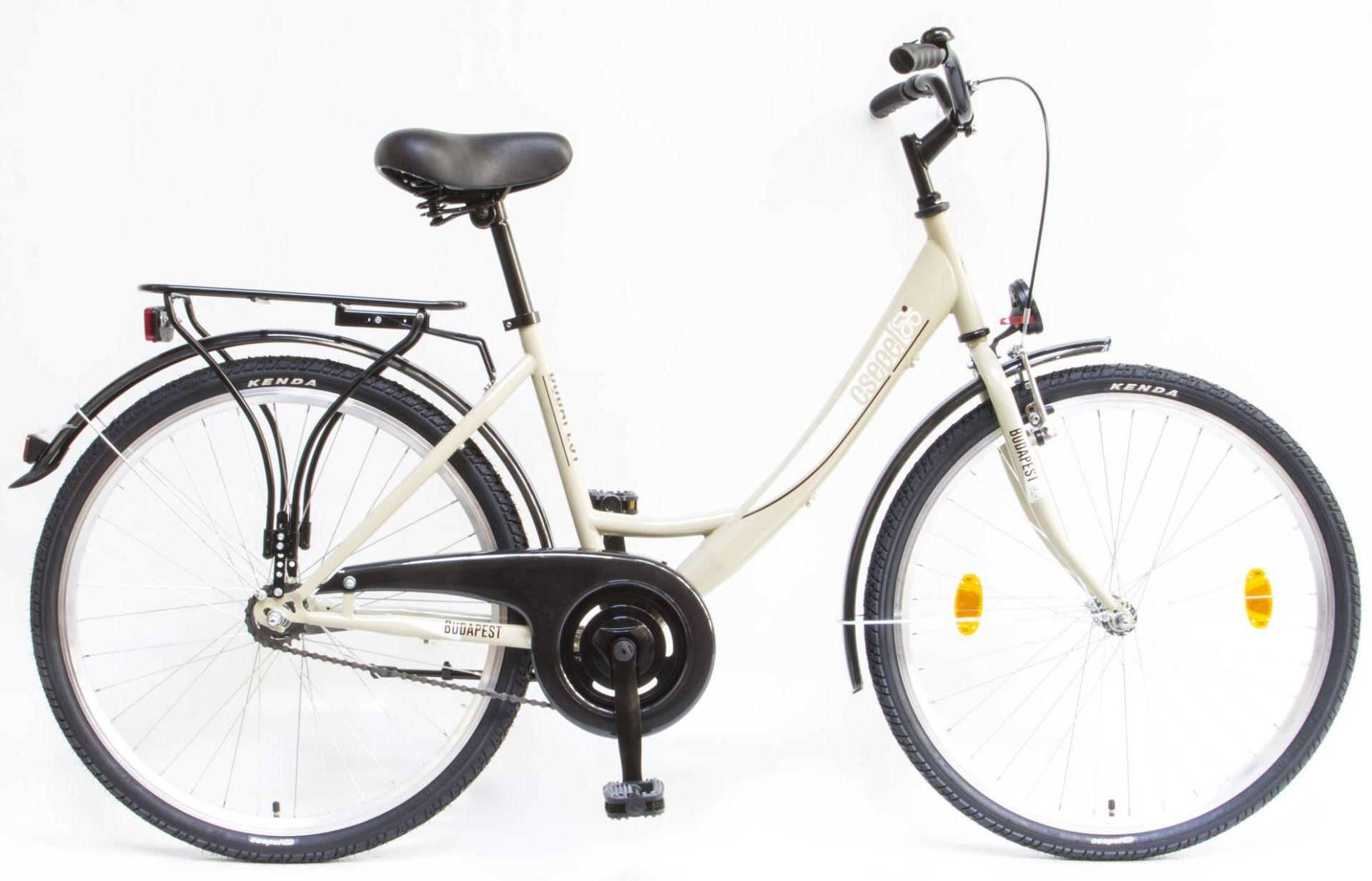 Csepel Budapest A 26 GR női városi kerékpár - drapp