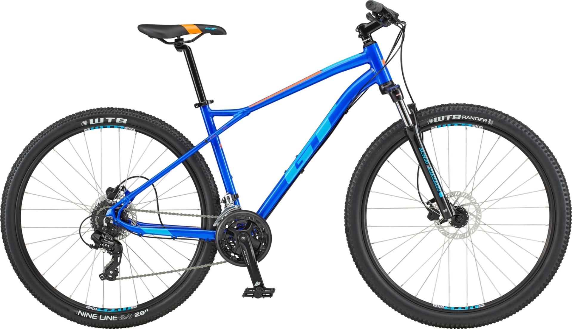 "GT Aggressor Expert férfi 27,5"" MTB kerékpár - kék - S (2020)"