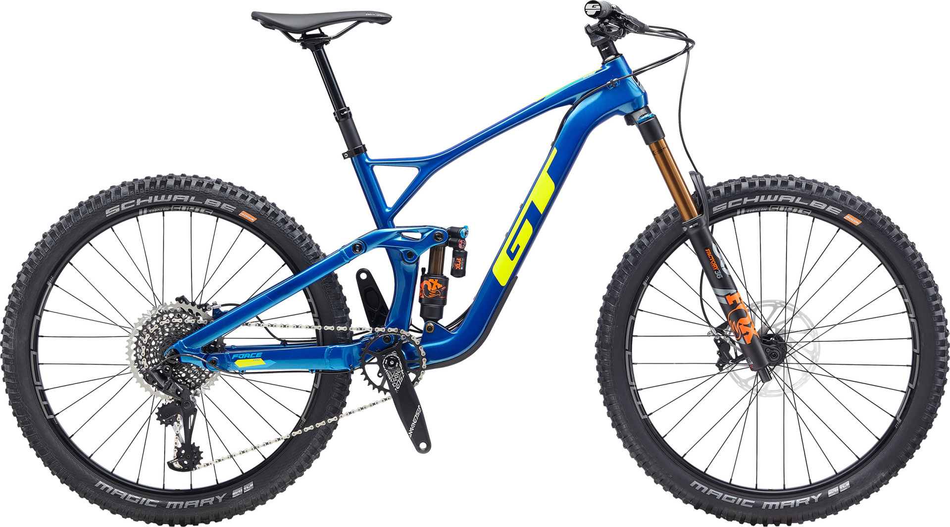 """GT Force Carbon Pro férfi 27,5"""" összteleszkópos MTB kerékpár - kék - M (2020)"""