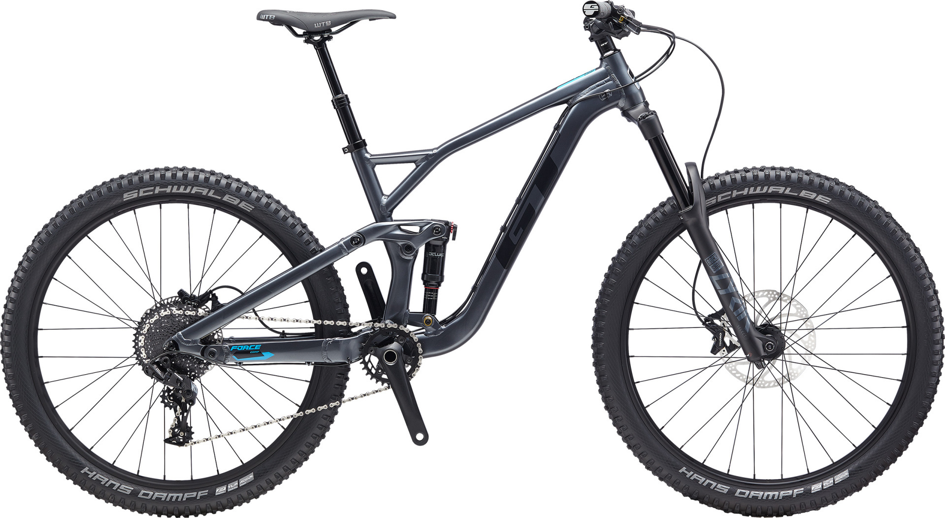 """GT Force Comp férfi 27,5"""" összteleszkópos MTB kerékpár - szürke - S (2020)"""