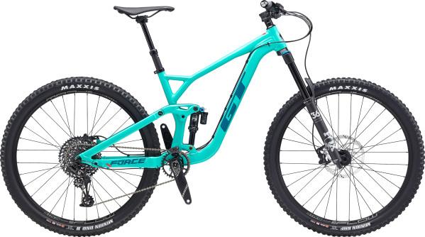 """GT Force Expert férfi 29"""" összteleszkópos MTB kerékpár - világoskék - M (2020)"""