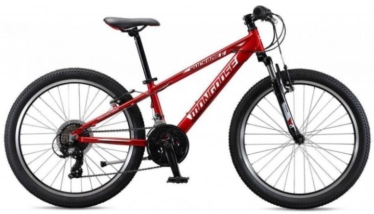 """Mongoose ROCKADILE 24"""" gyermek kerékpár - piros (2020)"""