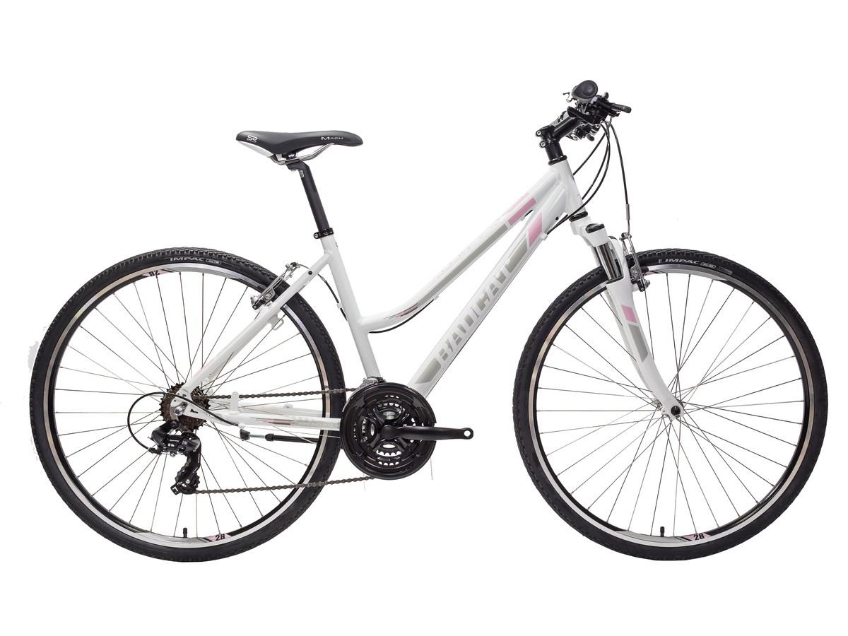 BadCat Siamese női cross kerékpár - fényes fehér - 48 cm (2019)