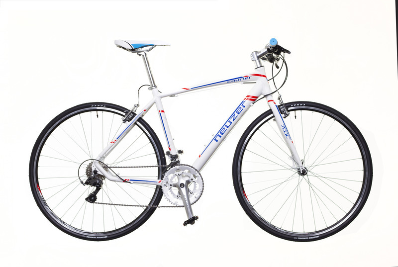 Neuzer Courier DT fitness kerékpár - matt fehér/kék - 53 cm