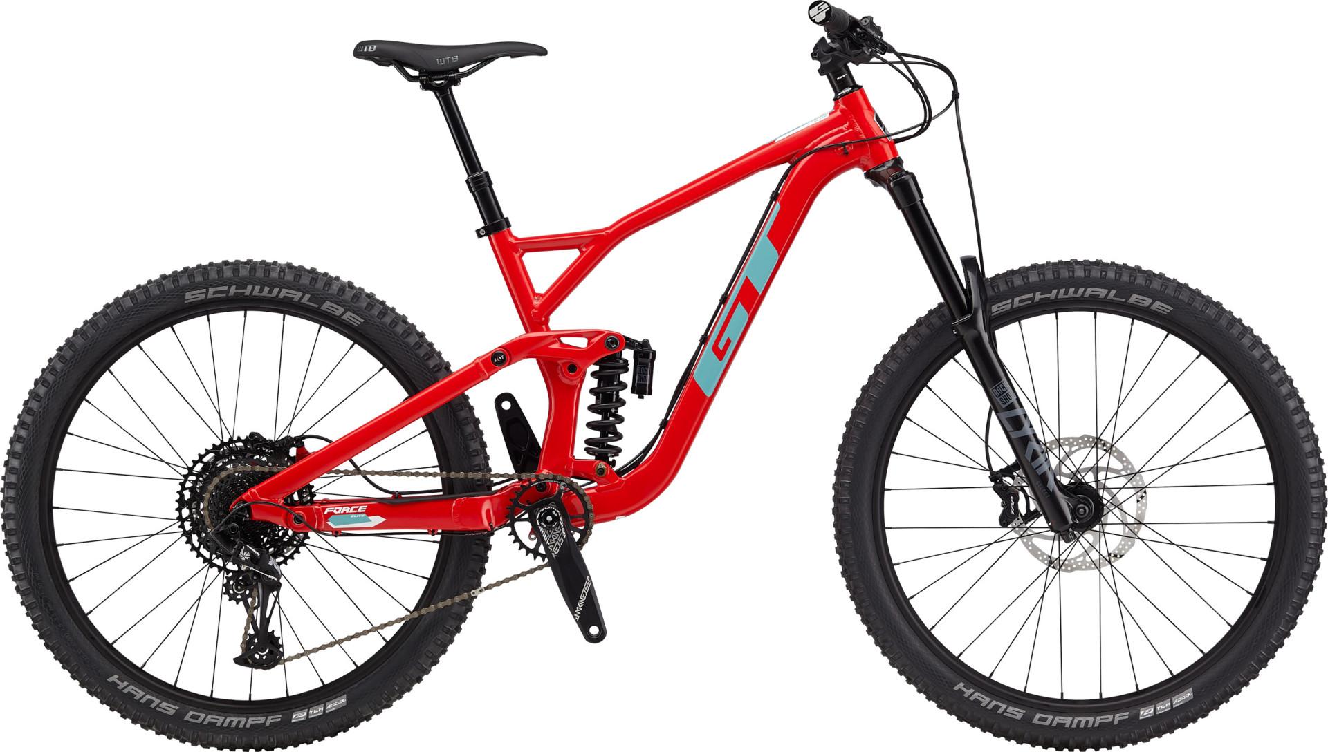 """GT Force Elite férfi 27,5"""" összteleszkópos MTB kerékpár - piros - M (2020)"""
