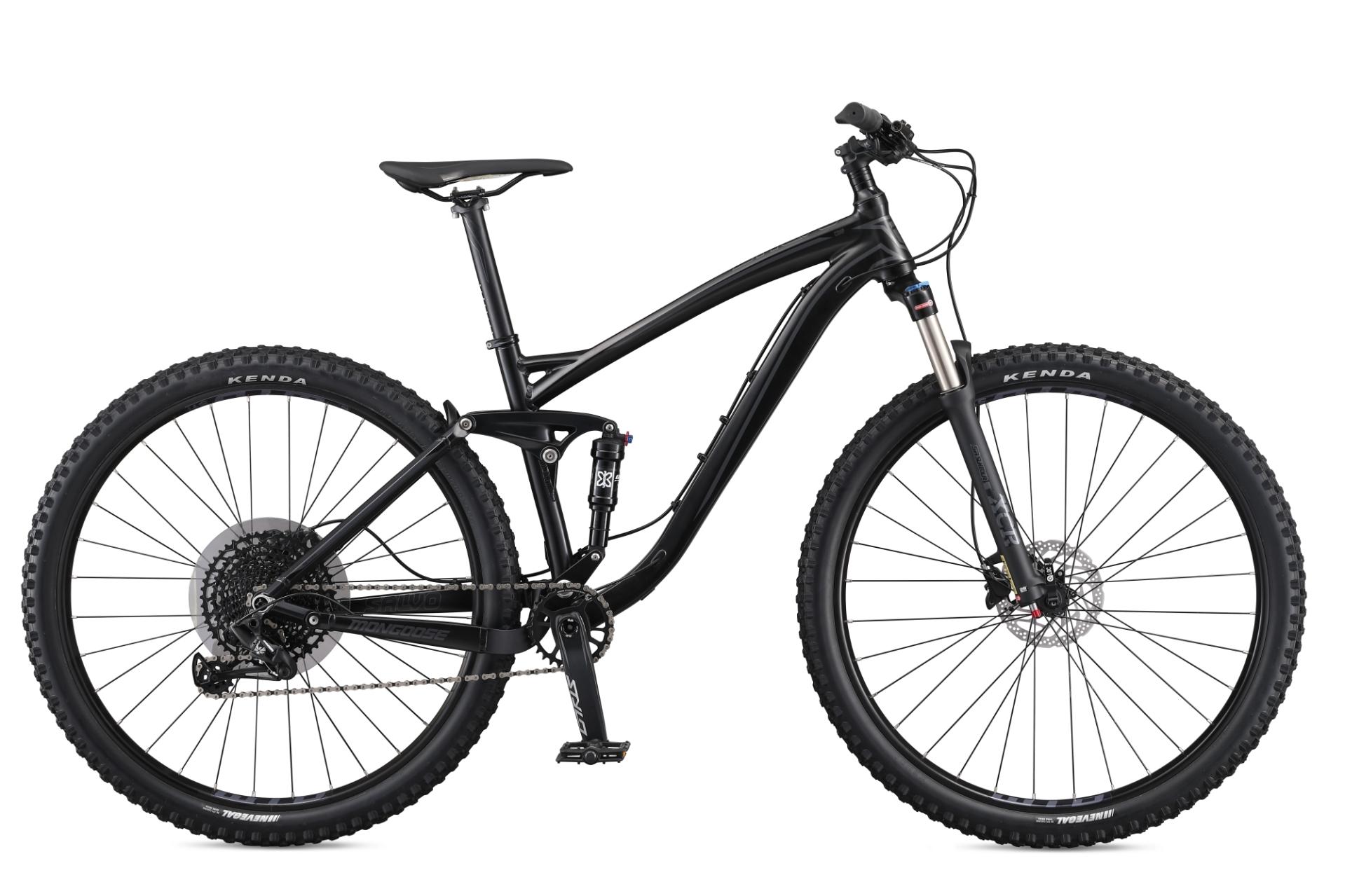 """MONGOOSE SALVO COMP férfi 29"""" összteleszkópos MTB kerékpár - fekete - M (2020)"""