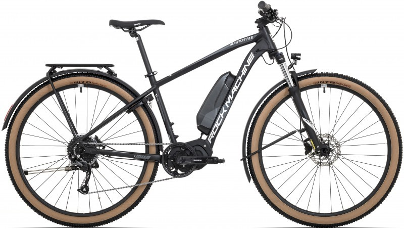 "Rock Machine Manhattan e50-29 Touring férfi 29"" MTB pedelec kerékpár - fekete - 19 (2020)"