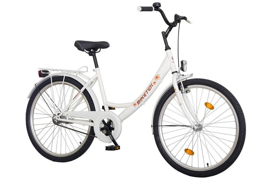 """Biketek JÁZMIN Túra női 26"""" városi kerékpár - fehér"""