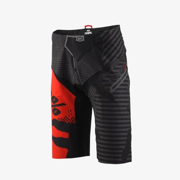 100% R-CORE X DH férfi rövidnadrág - fekete/piros - 38