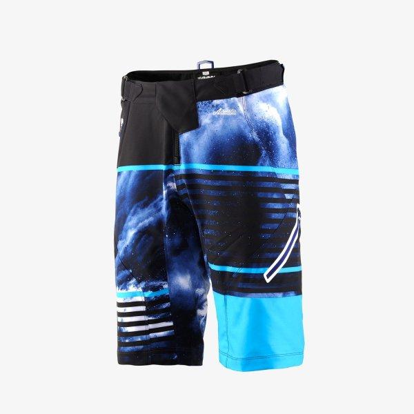 100% AIRMATIC férfi rövidnadrág - fekete/kék - 32