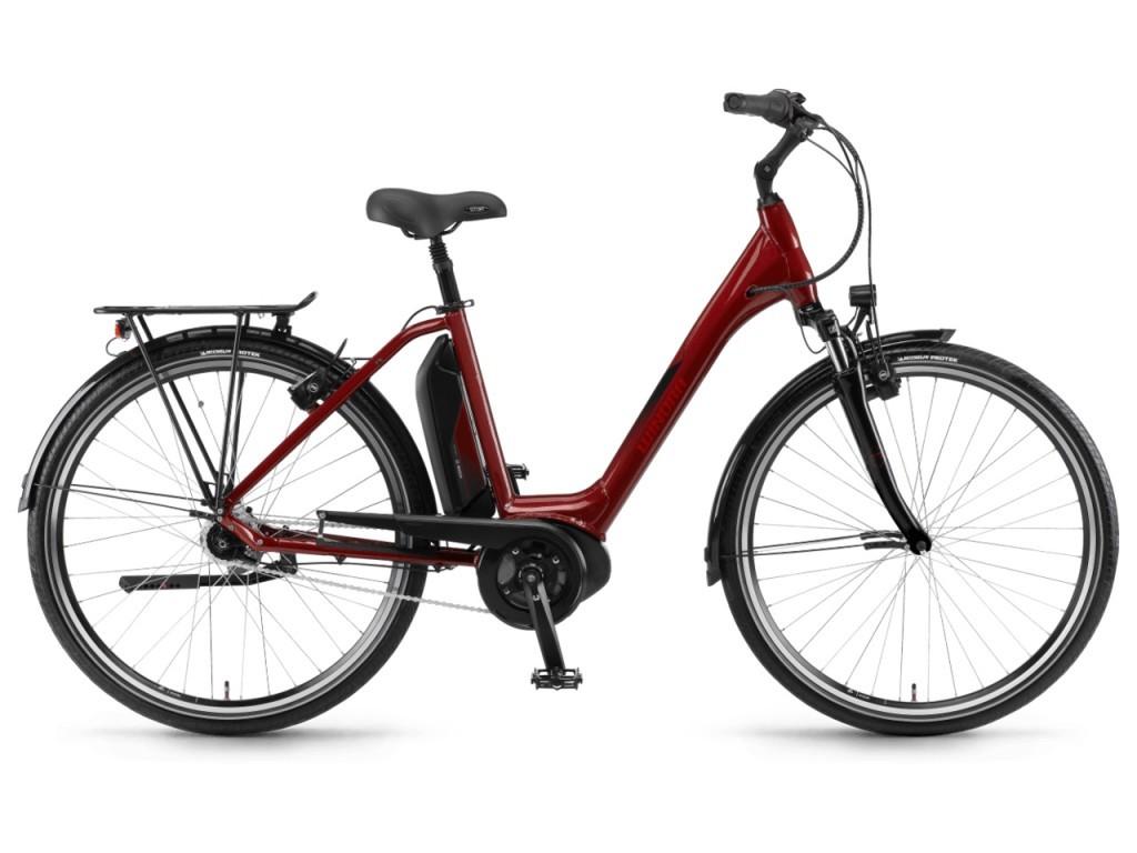 """Winora Sima N7 Plus monotube 28"""" pedelec városi kerékpár - piros - 50 cm (2018)"""