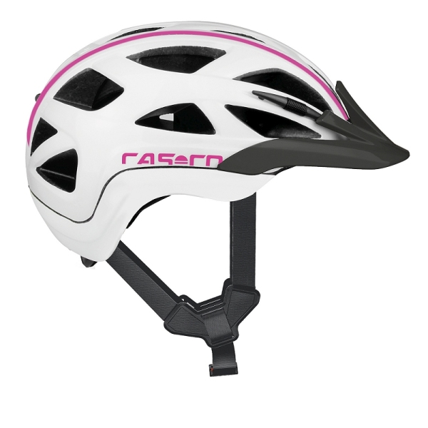 Casco Activ 2 Junior sisak - fehér/pink (52-56 cm)