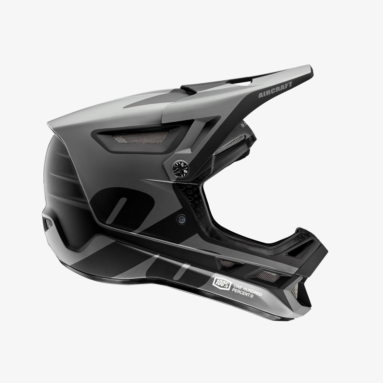 100% AIRCRAFT COMPOSITE downhill/BMX sisak - fekete - M