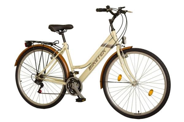Biketek Maxwell 28 18sp női trekking kerékpár - bézs