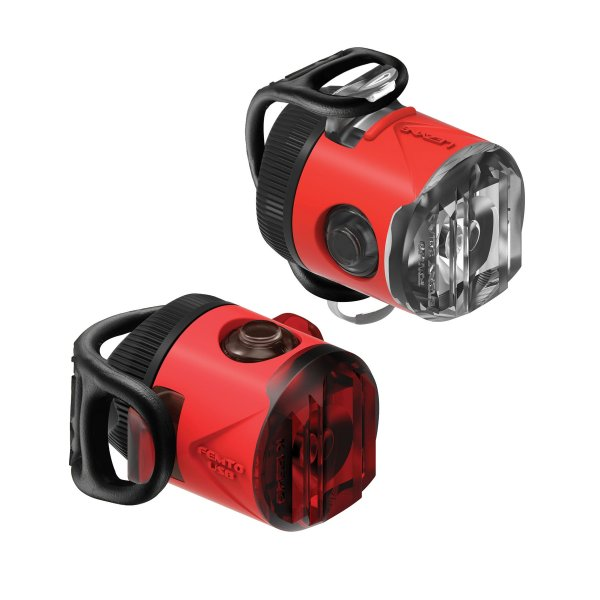 Lezyne FEMTO DRIVE USB lámpa szett - piros