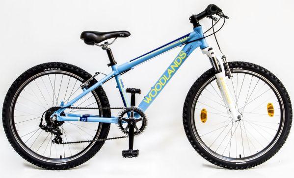 Csepel Woodlands Zero 6SP 24 gyermek kerékpár - matt kék (Teleszkópos)