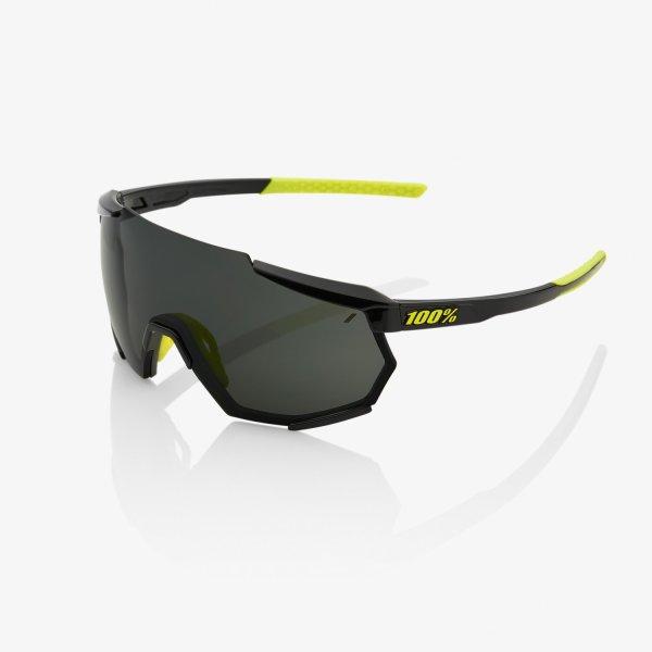 100% RACETRAP sportszemüveg - fényes fekete/füst