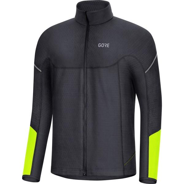 GORE Thermo Zip Shirt férfi felső - fekete/neonsárga - XL