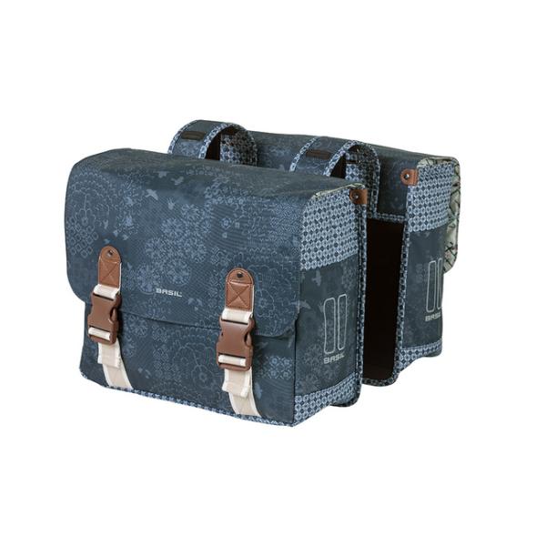 Basil Boheme Double Bag táska csomagtartóra - indigó kék (adapter nélkül)