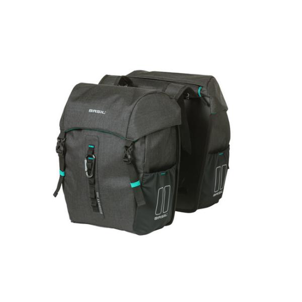 Basil Discovery 365D Double Bag táska csomagtartóra - szürke - M (adapter nélkül)